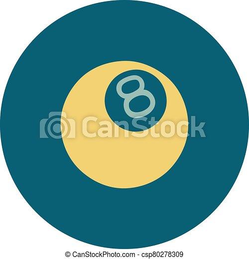 スタイル, 8つのボール, アイコン, 入れ墨 - csp80278309