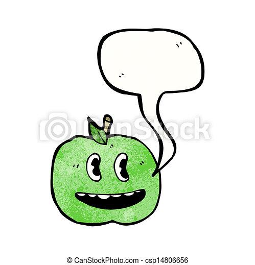 スピーチ泡, 漫画, アップル - csp14806656