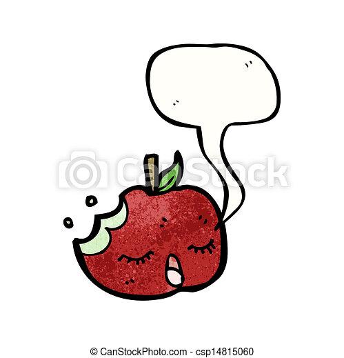 スピーチ泡, 漫画, アップル - csp14815060