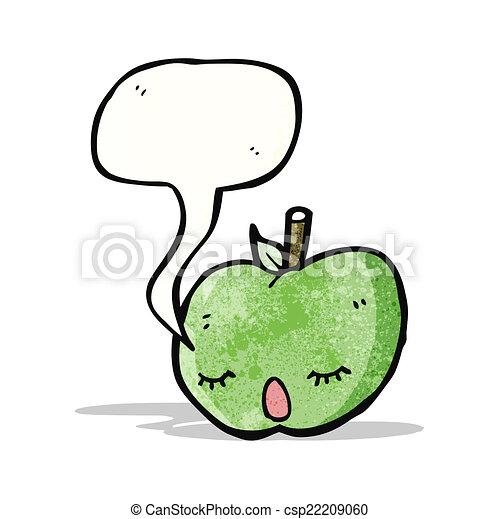 スピーチ泡, 漫画, アップル - csp22209060