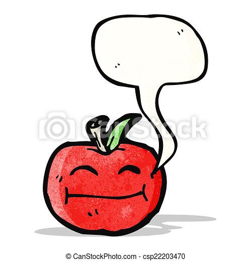 スピーチ泡, 漫画, アップル - csp22203470