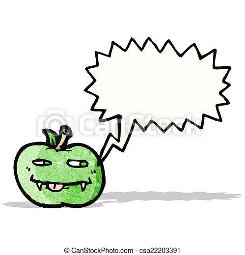 スピーチ泡, 漫画, アップル - csp22203391