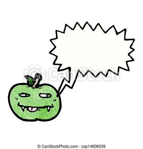 スピーチ泡, 漫画, アップル - csp14806039