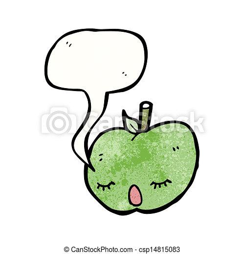 スピーチ泡, 漫画, アップル - csp14815083