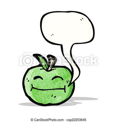 スピーチ泡, 漫画, アップル - csp22203645