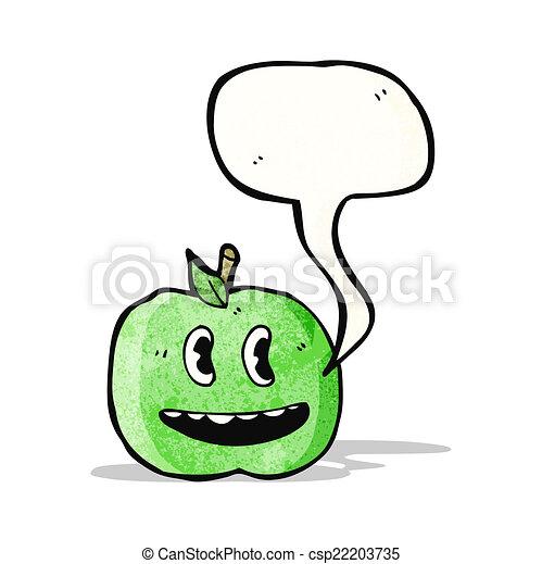 スピーチ泡, 漫画, アップル - csp22203735