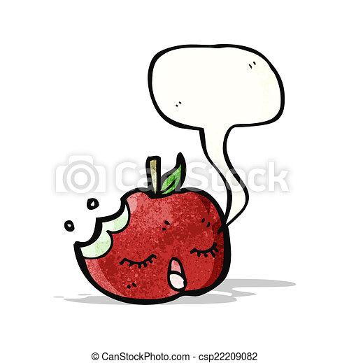 スピーチ泡, 漫画, アップル - csp22209082