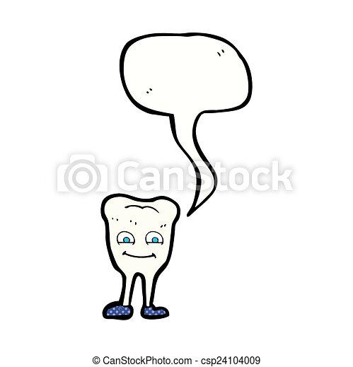 スピーチ, 歯, 泡, 漫画 - csp24104009