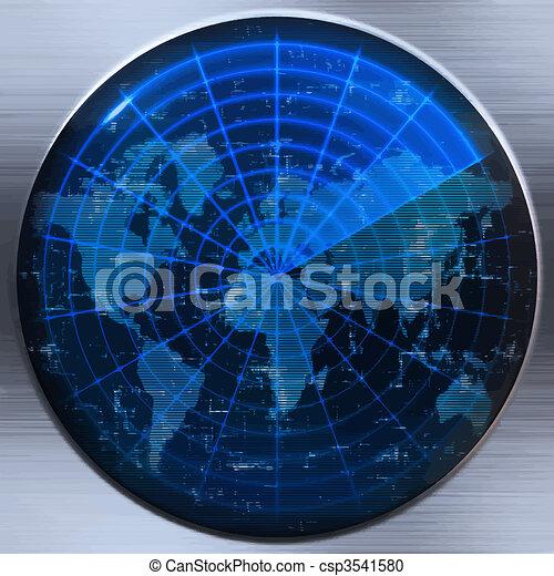 ソナー, 世界地図, ∥あるいは∥, レーダー - csp3541580