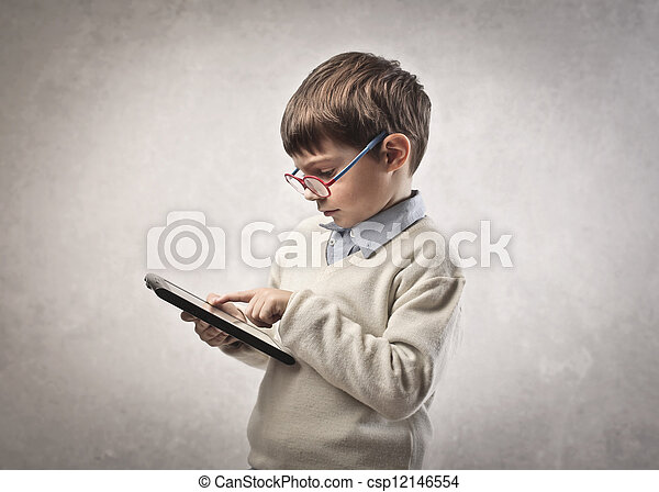 タブレット, 子供 - csp12146554