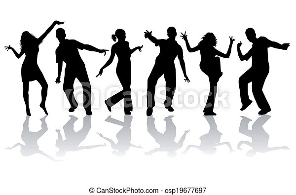 ダンス, シルエット, -, コレクション, 大きい - csp19677697
