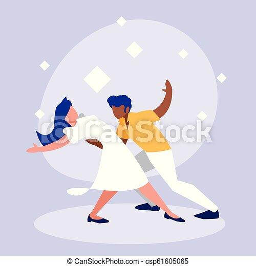ダンス, 恋人, 特徴, avatar, ディスコ - csp61605065