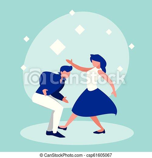 ダンス, 恋人, 特徴, avatar, ディスコ - csp61605067