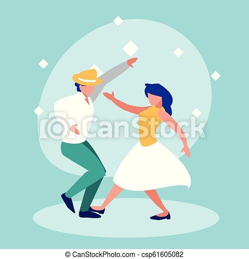 ダンス, 恋人, 特徴, avatar, ディスコ - csp61605082