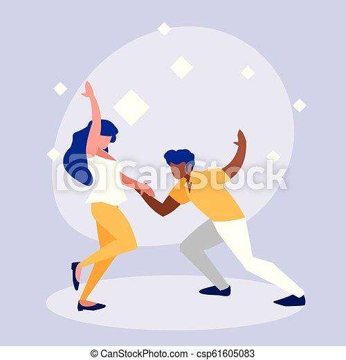 ダンス, 恋人, 特徴, avatar, ディスコ - csp61605083