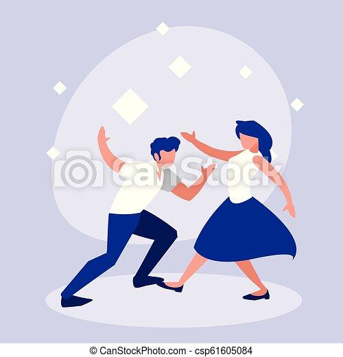 ダンス, 恋人, 特徴, avatar, ディスコ - csp61605084