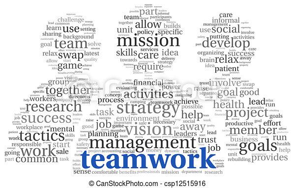 チームワーク, 概念, 単語, 雲, タグ - csp12515916