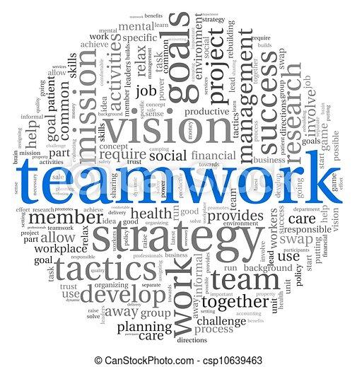 チームワーク, 概念, 単語, 雲, タグ - csp10639463