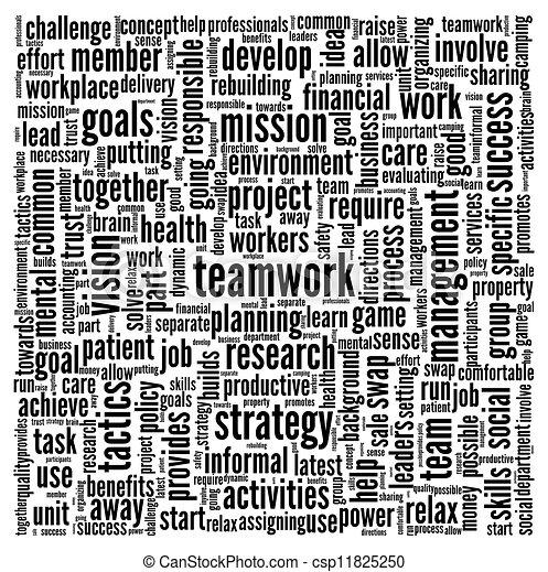 チームワーク, 概念, 単語, 雲, タグ - csp11825250