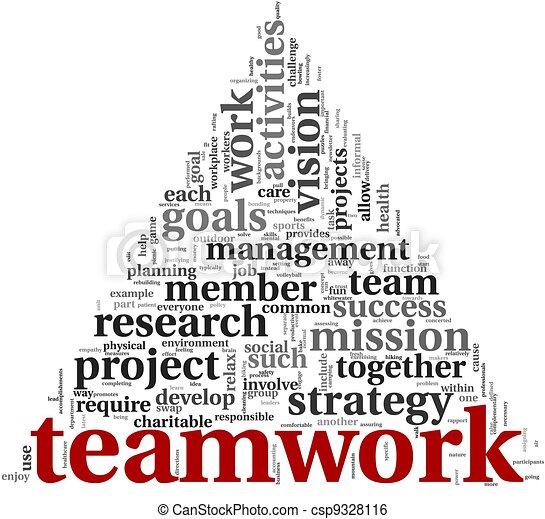 チームワーク, 概念, 単語, 雲, タグ - csp9328116