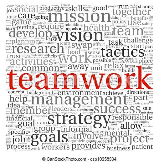 チームワーク, 概念, 単語, 雲, タグ - csp10358304