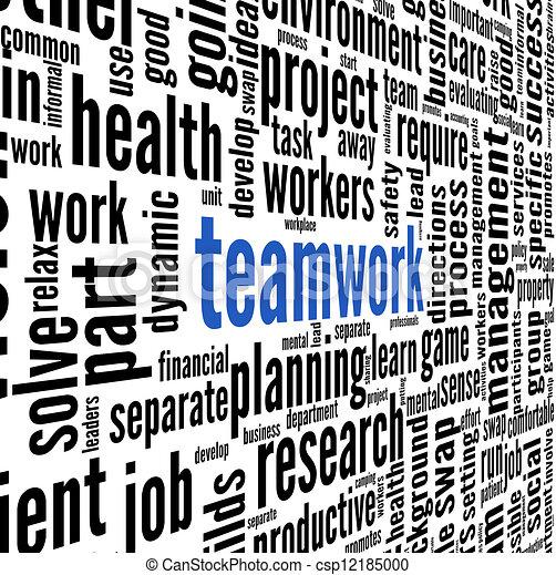 チームワーク, 概念, 単語, 雲, タグ - csp12185000
