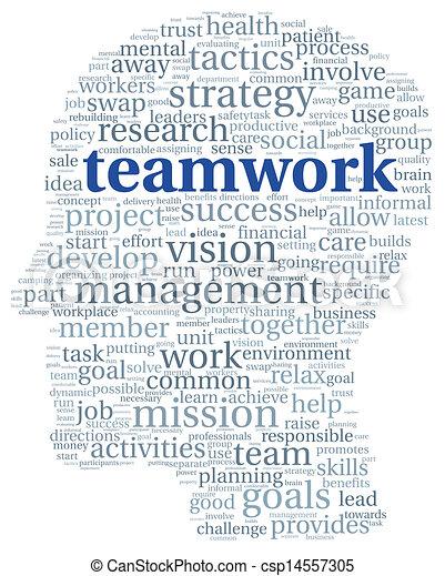 チームワーク, 概念, 単語, 雲, タグ - csp14557305