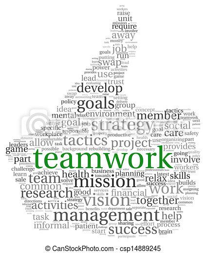 チームワーク, 概念, 単語, 雲, タグ - csp14889245
