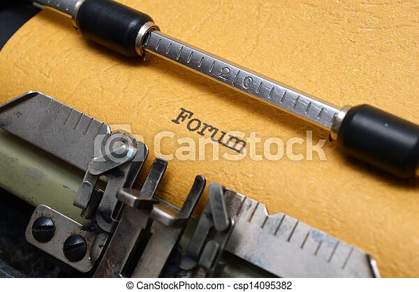テキスト, フォーラム, タイプライター - csp14095382