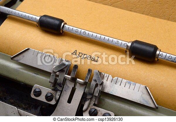 テキスト, 嘆願, タイプライター - csp13926130
