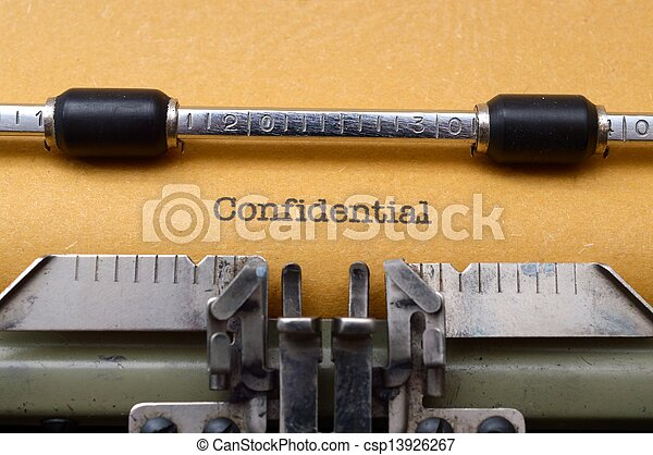 テキスト, 機密, タイプライター - csp13926267