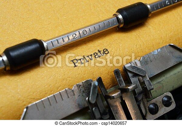 テキスト, 私用, タイプライター - csp14020657