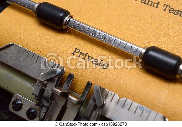 テキスト, 私用, タイプライター - csp13926278