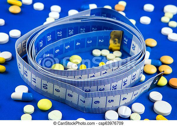 テープ, 丸薬, 測定 - csp63976709