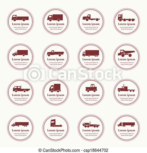 トラック輸送, アイコン - csp18644702
