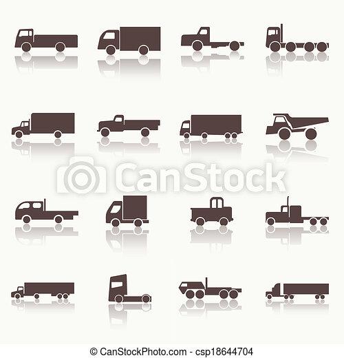 トラック輸送, アイコン - csp18644704