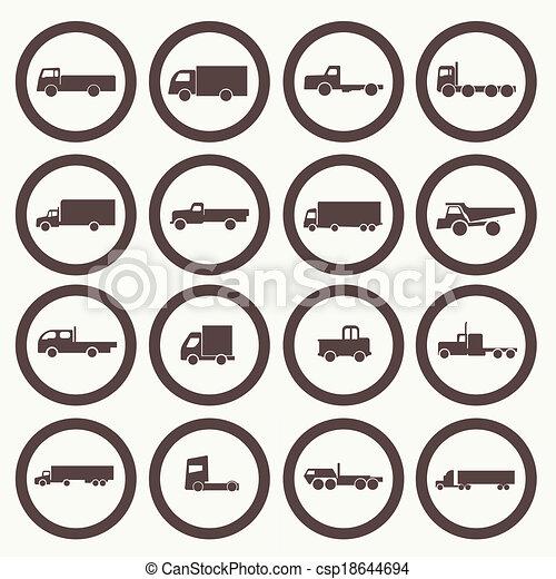 トラック輸送, アイコン - csp18644694