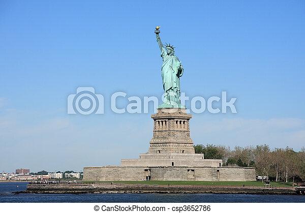 ニューヨークシティ, -, 像, 自由 - csp3652786