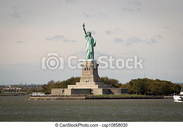 ニューヨークシティ, 像, 自由 - csp10858030