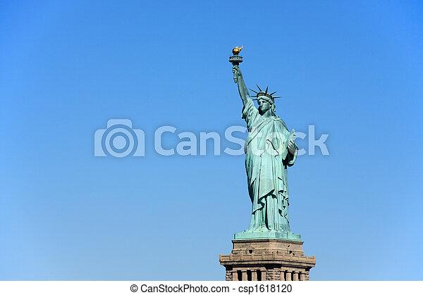 ニューヨークシティ, -, 像, 自由 - csp1618120