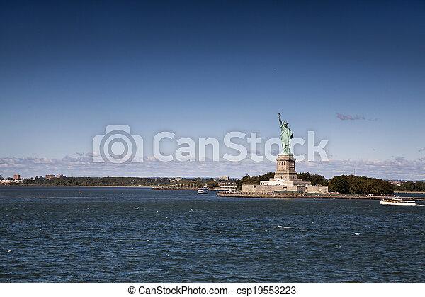 ニューヨークシティ, 像, 自由 - csp19553223