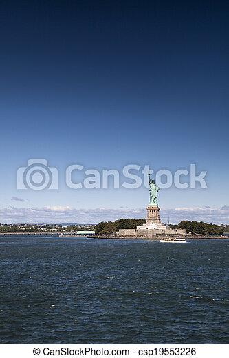 ニューヨークシティ, 像, 自由 - csp19553226