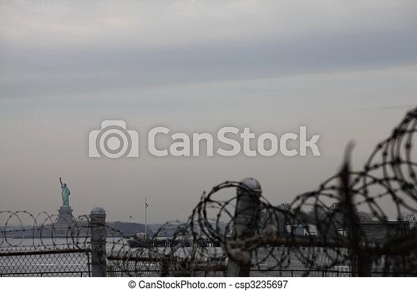 ニューヨークシティ, 像, 自由 - csp3235697