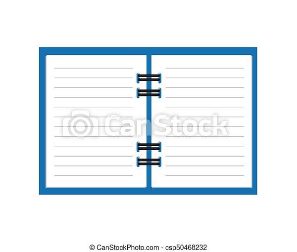 ノート, 開いた, らせん状に動きなさい - csp50468232