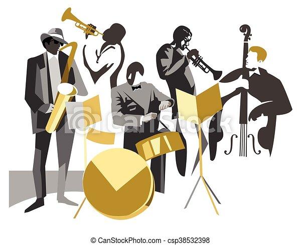 バンド, ジャズ - csp38532398