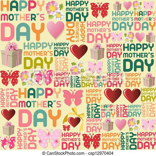 パターン, 幸せ, 日, 母 - csp12970404