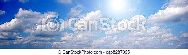 パノラマ, 空 - csp8287035