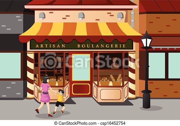 パン屋 フランス語 店 パン屋 ベクトル 店 イラスト フランス語 Canstock