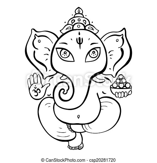 ヒンズー教の 神, ganesha. - csp20281720