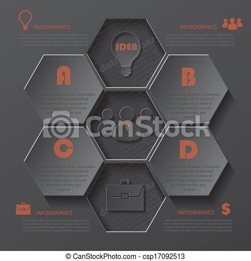 ビジネス, 現代, デザイン, テンプレート, infographics, あなたの - csp17092513